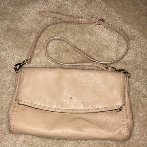 Kate Spade tan leather crossbody/clutch